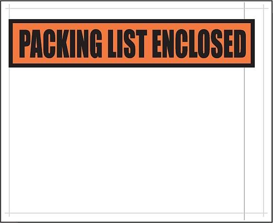 """4.5 x 5.5"""" Packing List Envelopes - 3855"""